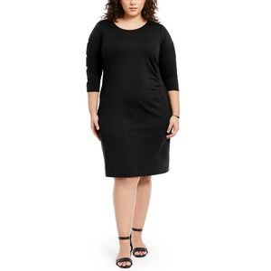 Ny Collection Black Ruched Dress